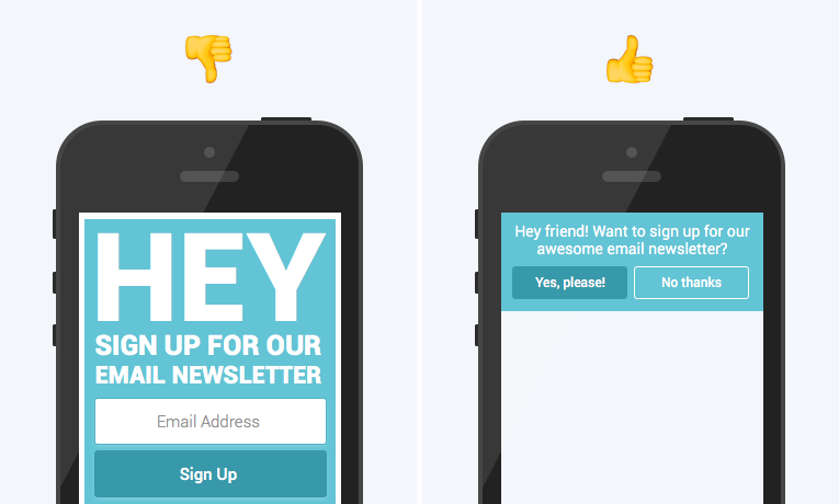 The most mobile-friendly way to use pop-ups.