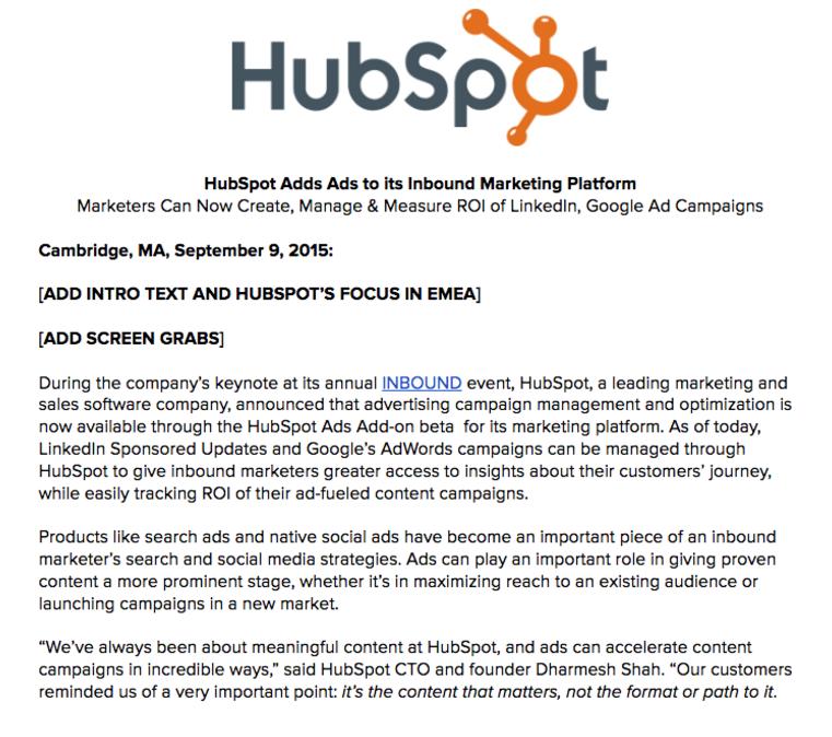 company launch press release sample