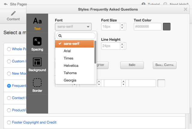 Module-Styling-Options
