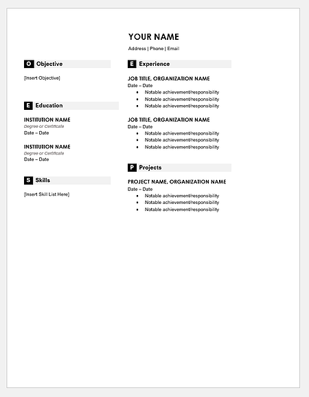 Free Resume Microsoft Word Template from blog.hubspot.com
