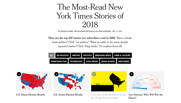 Four most-read New York Times stories of 2018
