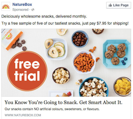 NatureBox Facebook Ad