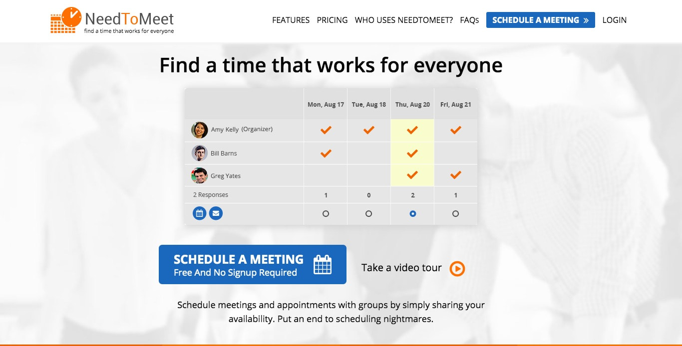 NeedToMeet Best Scheduling Polls and Surveys
