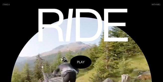 Nikolaj Juhlsens interactive video project shows how it feels to take a ride