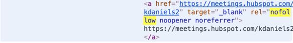 Exemple de lien Nofollow