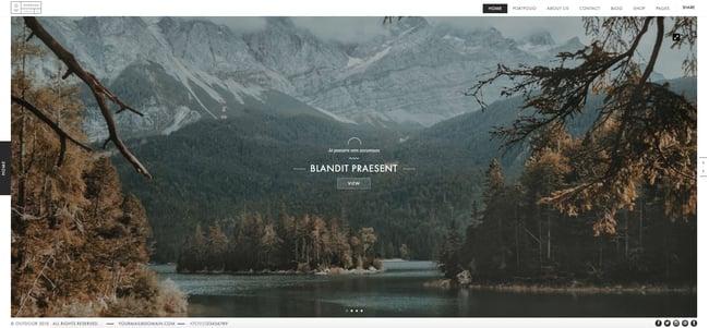 creative wordpress themes: Outdoor