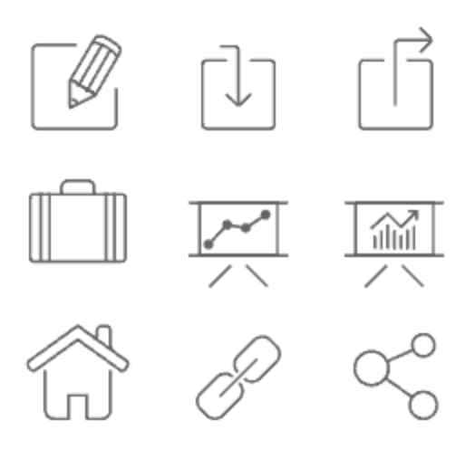 Outline free icon set