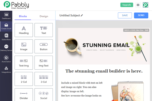 Newsletter Software Tools: Pabbly Email Marketing
