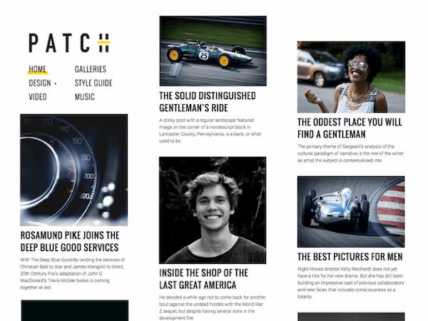 Patch free minimalistic WordPress theme demo