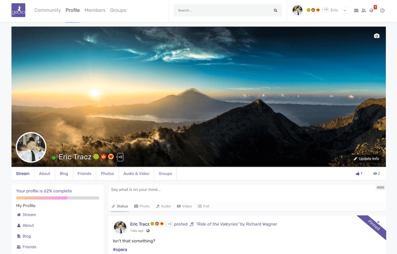 PeepSo plugin to create social community site using WordPress