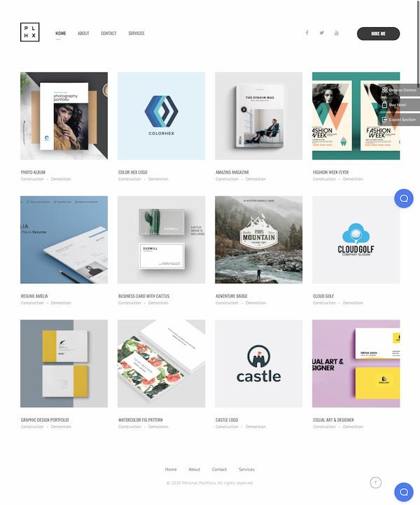 Phlox minimalist portfolio  theme demo