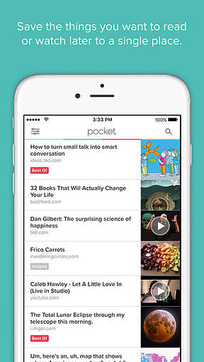 Pocket mobile app for staying updated on the latest news while commuting