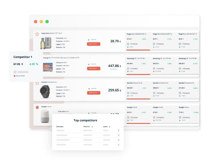 PriceShape competitive analysis tool