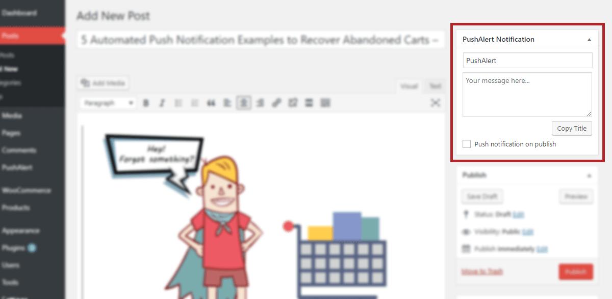 PushAlert plugin adding web push notification to your WordPress site