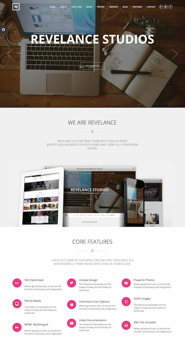 Relevance Studio theme demo for tech business website