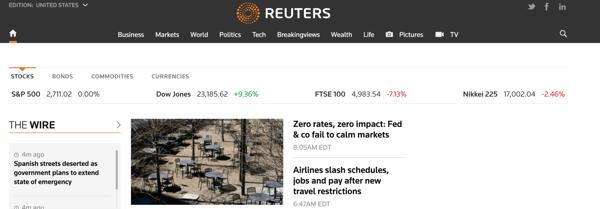 Reuters-homepage-on-wordpress