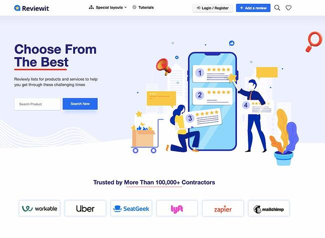 Review site demo of REHub theme