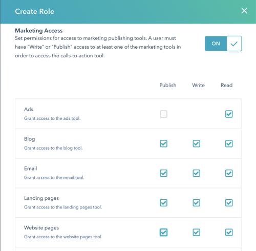 Role Access Web Design 1