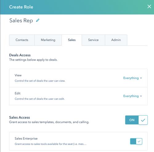 Role Sales Access