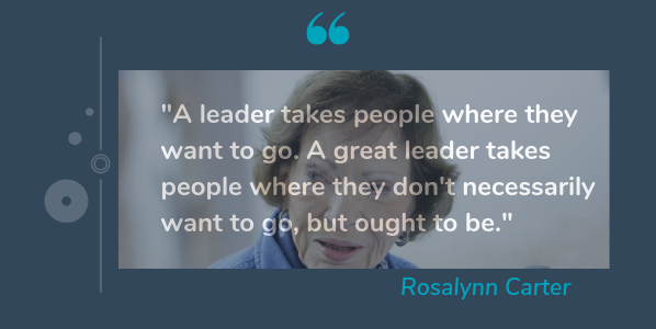 Rosalynn Carter quotes from female leaders