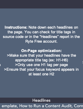 SEO template headlines