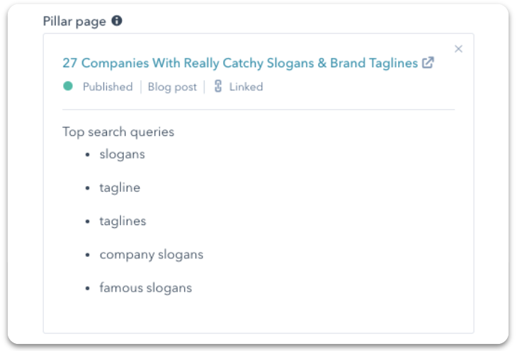 Google Search Console - Top Search Queries in HubSpot