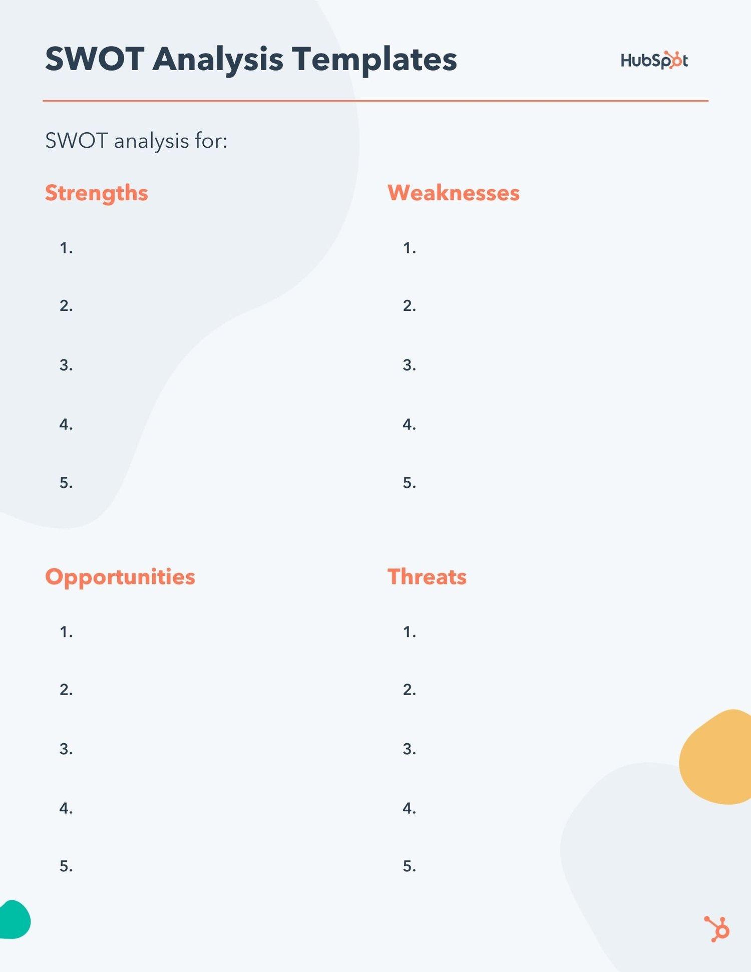 kostenlose bearbeitbare Swot-Analysevorlage