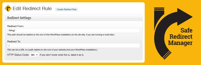 Safe Redirect Manager plugin settings page-1