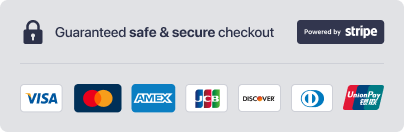 Safe checkout badge provided by Stripe