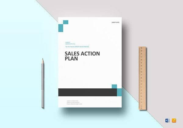 Sales Action Plan Cover in Microsoft Word