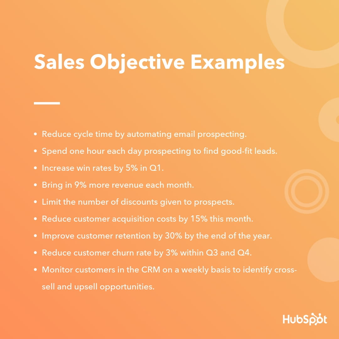 Sales Objective Examples