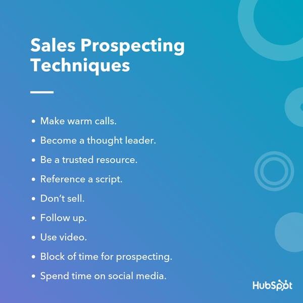 Sales Prospecting Techniques