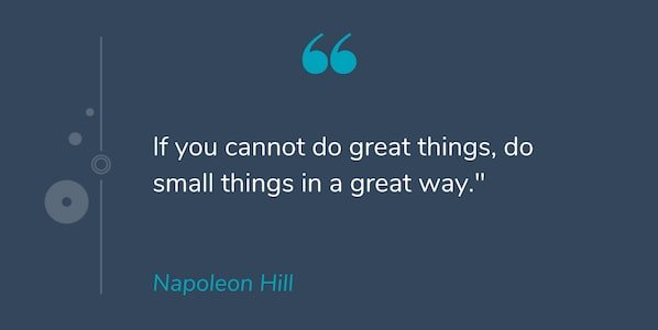 Motivational quote by Napoleon Hill