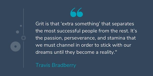 Motivational quote by Travis Bradberry