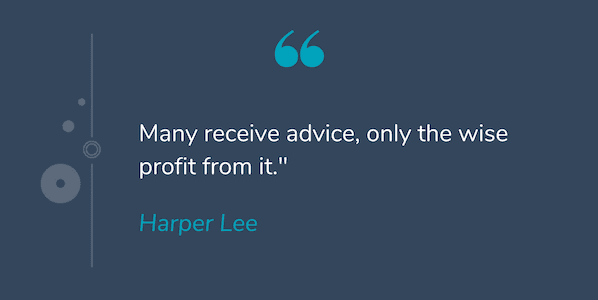 Deep quote by Harper Lee