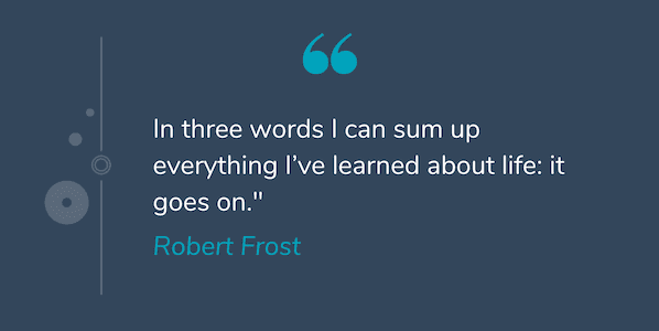 Deep quote by Robert Frost