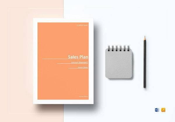 Sample Sales Plan Template in Microsoft Word