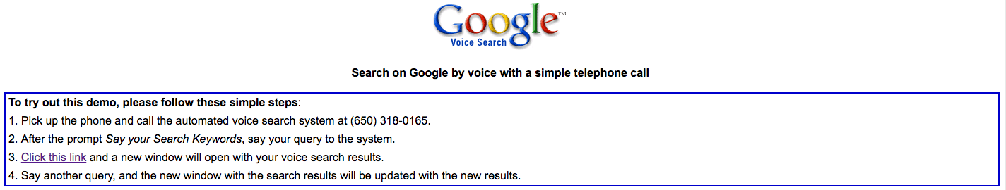Google Voice primitive