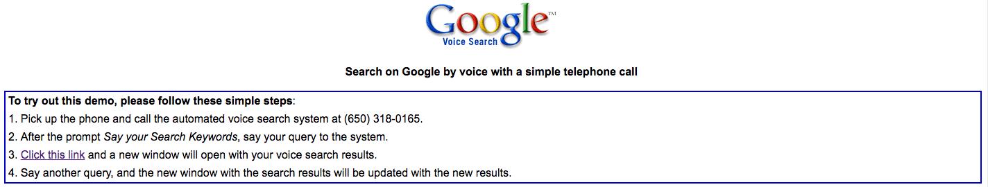 Google Voice primitive