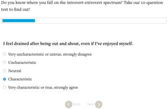 Introversion Extroversion Quiz