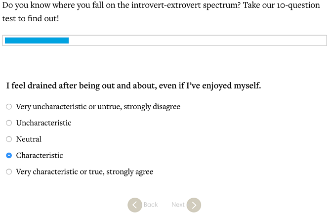 Introversion Extroversion Quiz