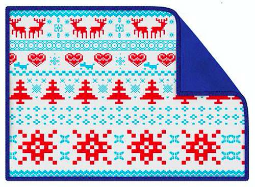Blue Smart Cloth with pixelated graphics, a Secret Santa gift idea