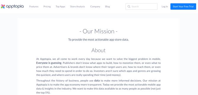 Apptopia درباره ما صفحه