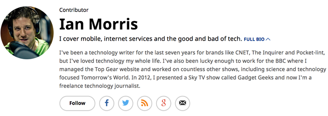 Tech company biography writing services