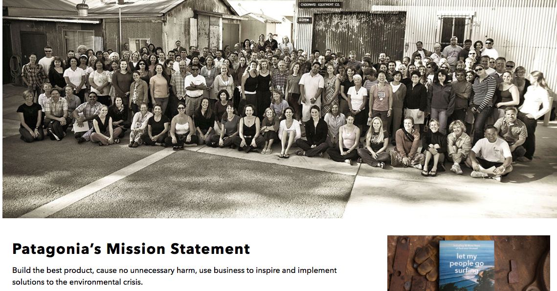 Patagonia vision and mission statement