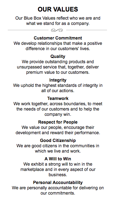 American Express values