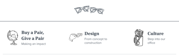 Objectif Warby Parker