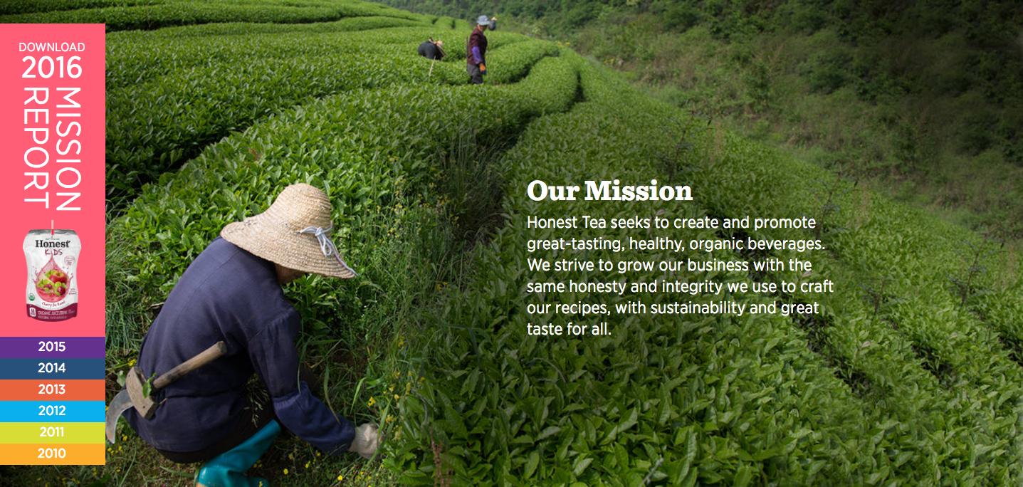 Honest Tea vision and mission statement