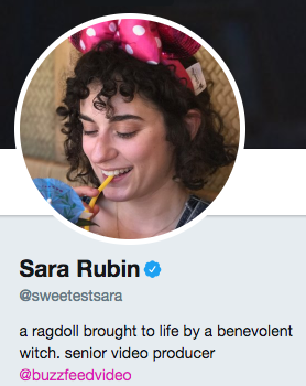 Funny twitter bio from @Sweetestsara