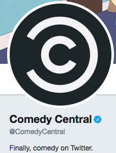 Funny twitter bio from @ComedyCentral